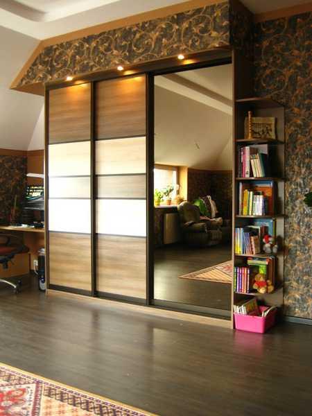 Шкаф-купе с зеркалом на всю дверь